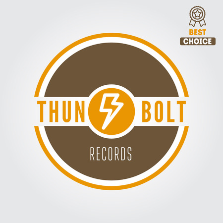 estudio de grabacion: Logo y logotipo elementos para estudio de grabación o producción de sonido