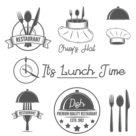 eatery: Set of logo, badges and labels elements for restaurant or eatery