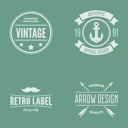 logotypes: Collection of vector logotypes elements, icons, symbols, labels, badges and silhouettes