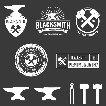 sledgehammer: Set of  , elements and  for blacksmith and shop