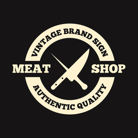 Vector set of butchery labels, badges and design elements Illustration