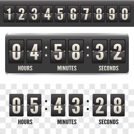Countdown flip board with Scoreboard. Flip
