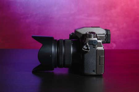 Professional modern DSLR camera .Digital modern photo camera 版權商用圖片