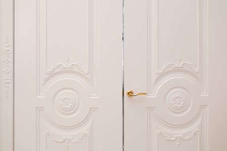 white door, luxury interior. Door isolated on white background 写真素材