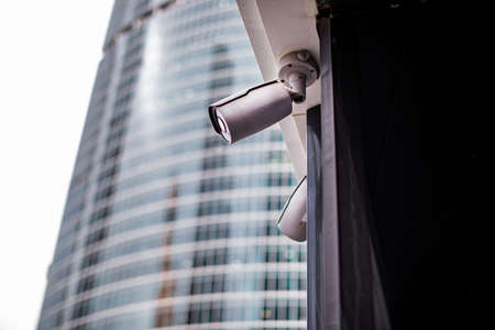 Cctv camera system on wall technology wifi rotation tracking ai system