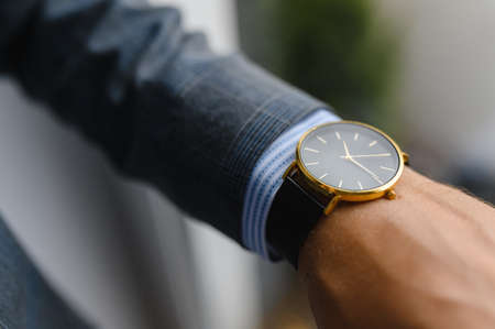 black watch, shirt, jacket. wrist shot. Standard-Bild