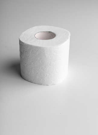 Roll of toilet paper or tissue isolated on white Banco de Imagens