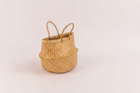 eco bag basket on a white background. High quality photo