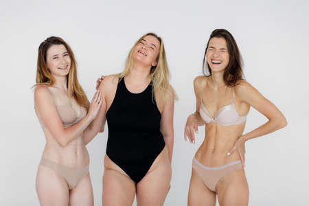 Body positivity concept. Woman with confidence and body positivity