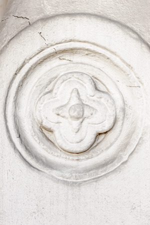 emboss: Orthodox ornament emboss on the white wall