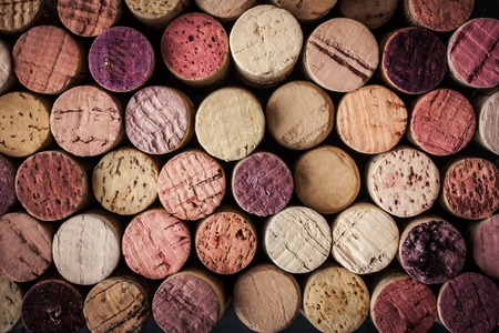 grape fruit: Wine corks background horizontal Stock Photo
