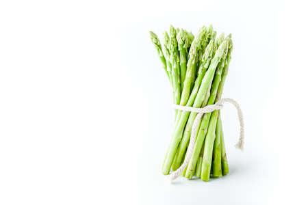 Bundle of asparagus on the white background horizontal Stock Photo