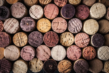 Wine corks background close-up Foto de archivo