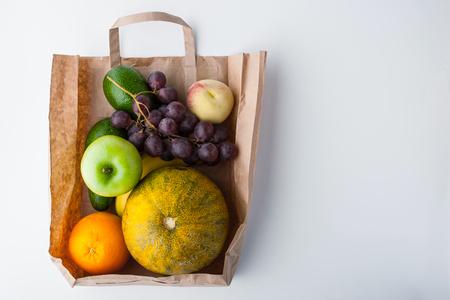 fruit mix: Fruit mix inside a paper bag Stock Photo