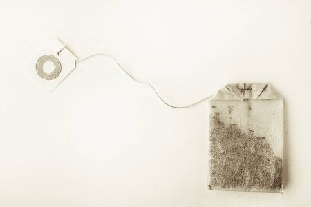 tea bag: Tea bag on the white background horizontal