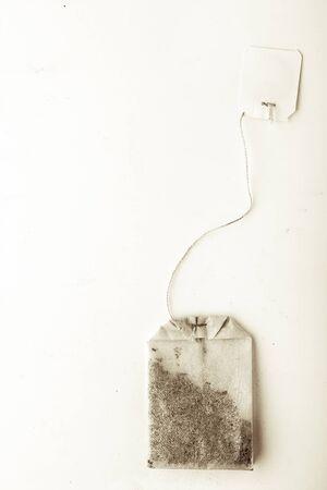 tea bag: Tea bag on the white background vertical Stock Photo