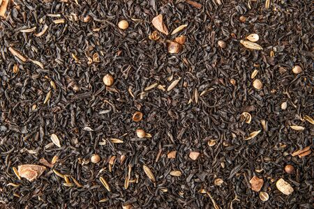 convolute: Tea with spices background Stock Photo