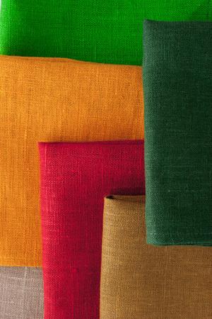 napkins: Colorful napkins  background  vertical