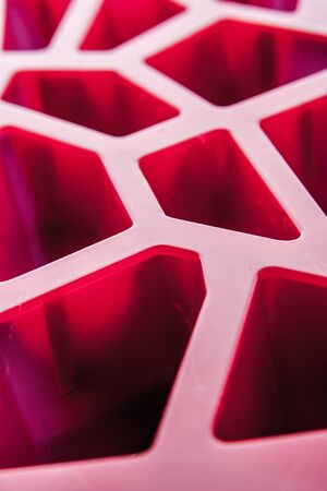 refrigerate: Ice cube tray background vertical Stock Photo