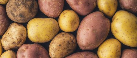 wide screen: Raw potatoes  background wide screen