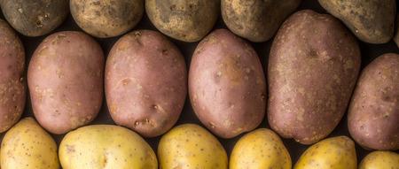 wide screen: Raw potatoes mix background wide screen