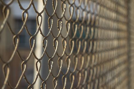 mesh fence: Metal mesh fence background Stock Photo