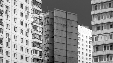 multistory: Multistory houses  black and white