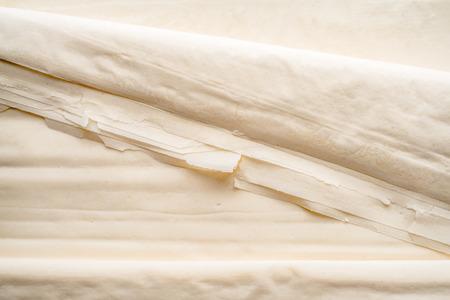 fillo: Filo dough sheets background Stock Photo