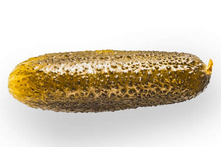 encurtidos: Pickled cucumber on the white background