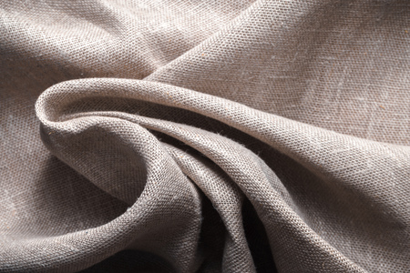 Background made of linen folded napkins