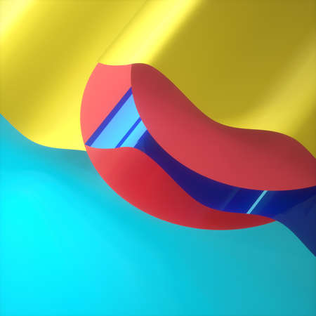 Abstract wave image pop art 3D image square