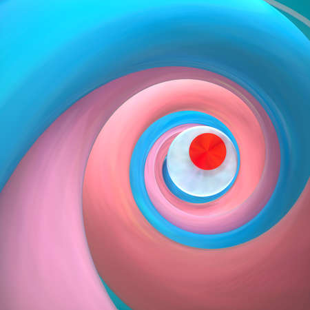 Abstract image of a twisted spiral pop art 3D image square Stock Photo
