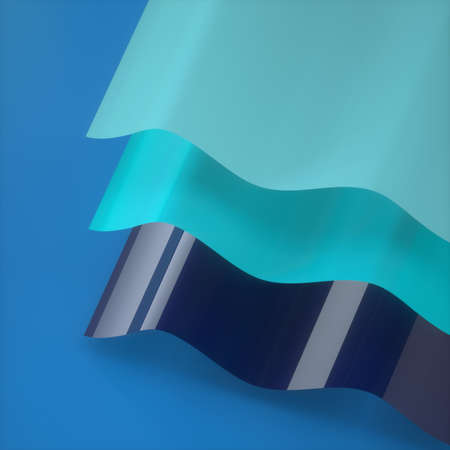 Abstract image of a surface in the form of a wave 3D image square Stock Photo