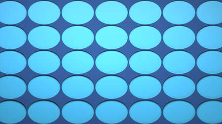Abstract image of blue eggs on a blue background 3D image horizontal 版權商用圖片