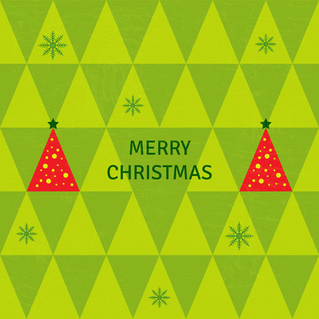 green tree: Merry Christmas green tree background, illustration Illustration