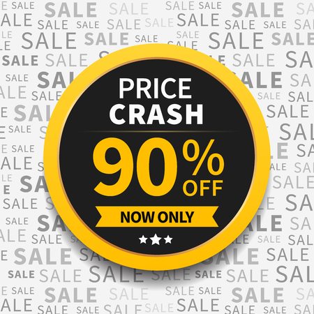 thanksgiving card: Price crash sale label on typography background