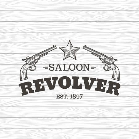 Vecteur gravure revolvers occidentaux. Style vintage. Banque d'images - 35789586