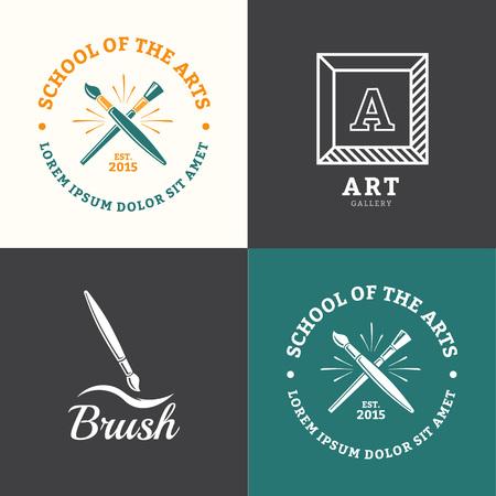 Vector brush for school drawing or art studio
