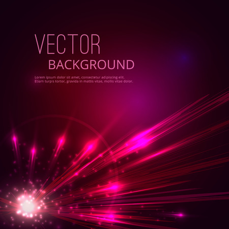 flare light: Futuristic vector abstract background. Explosion of star.
