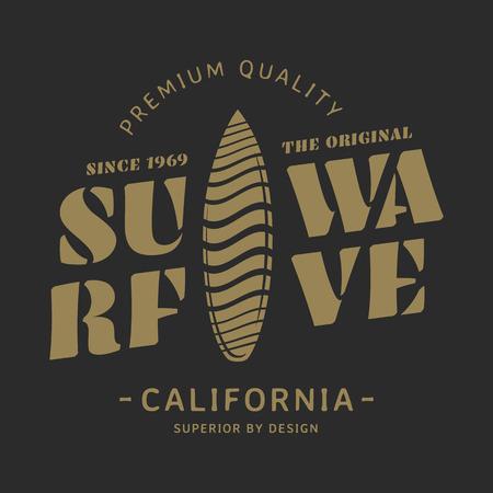 Surf wave illustration