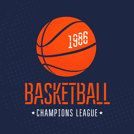 バスケット ボールのベクトル図です。T シャツに印刷します。スポーツ