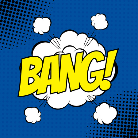 bang: BANG. Vector poster comic strip style with halftone effect.
