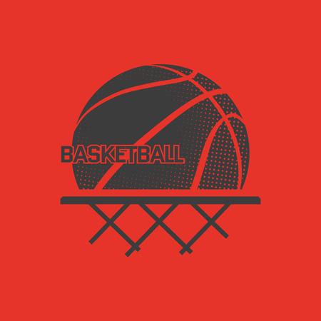 농구 벡터 일러스트 레이 션. 티셔츠에 인쇄 할 수 있습니다. 스포츠