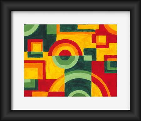 art painting: Circles and squares Abstract Art Painting.