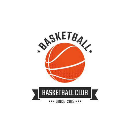Basketball club logo template. Vector sport emblem