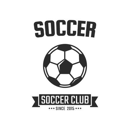Soccer club logo template. Vector sport emblem 일러스트