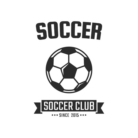 collegiate: Soccer club logo template. Vector sport emblem Illustration