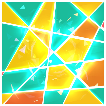 vitrage: Stained glass abstract background. Broken geometric shape. Vector illustration