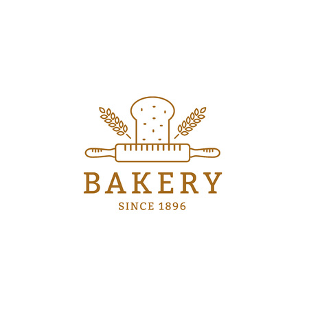 Bakery vector  or badge. Bread shop sign.