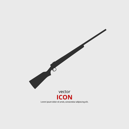 carbine: Rifle icon vector illustration. Black silhouette gun Illustration